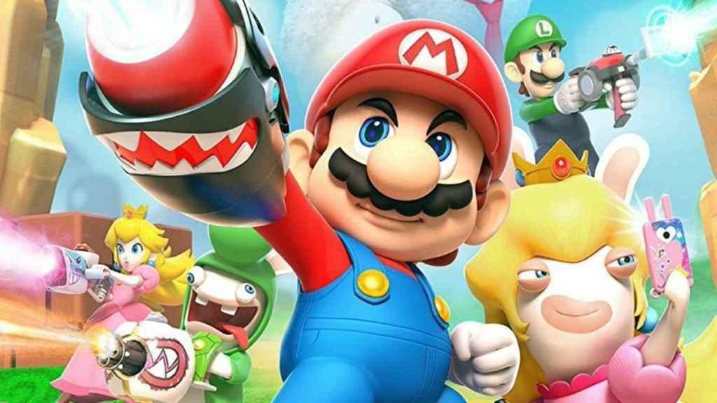Imagen promocional de Mario + Rabbids Kingdom Battle.