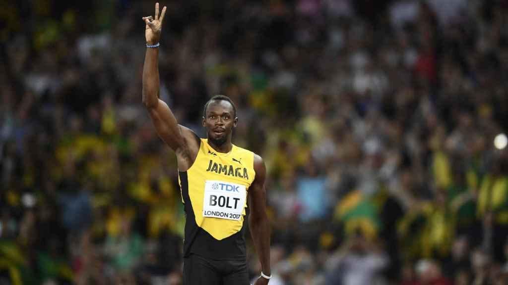 Usain Bolt ganó su serie eliminatoria de los 100 metros con 10.07 segundos.