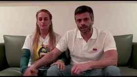Captura de un vídeo distribuido por Leopoldo López y su esposa el pasado 1 de agosto.