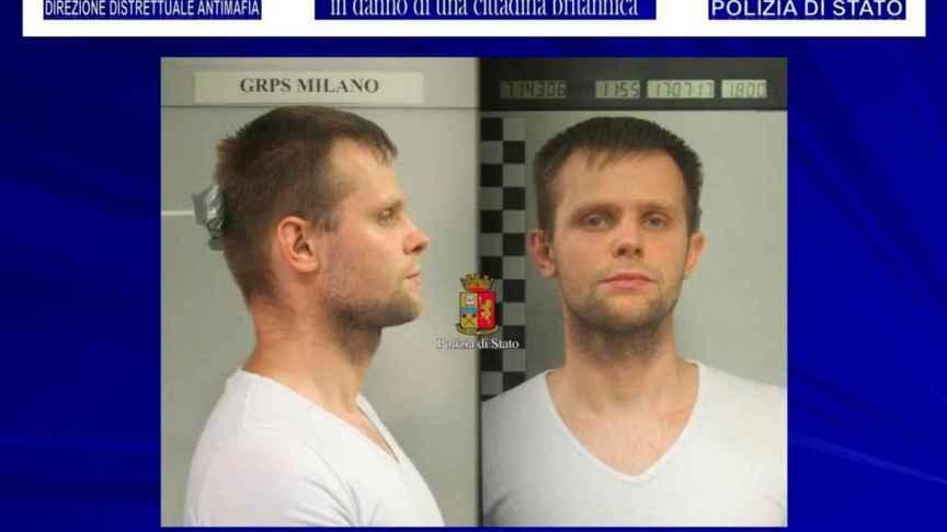 Imagen de Lukasz Herba realizada por la Policía de Milán.