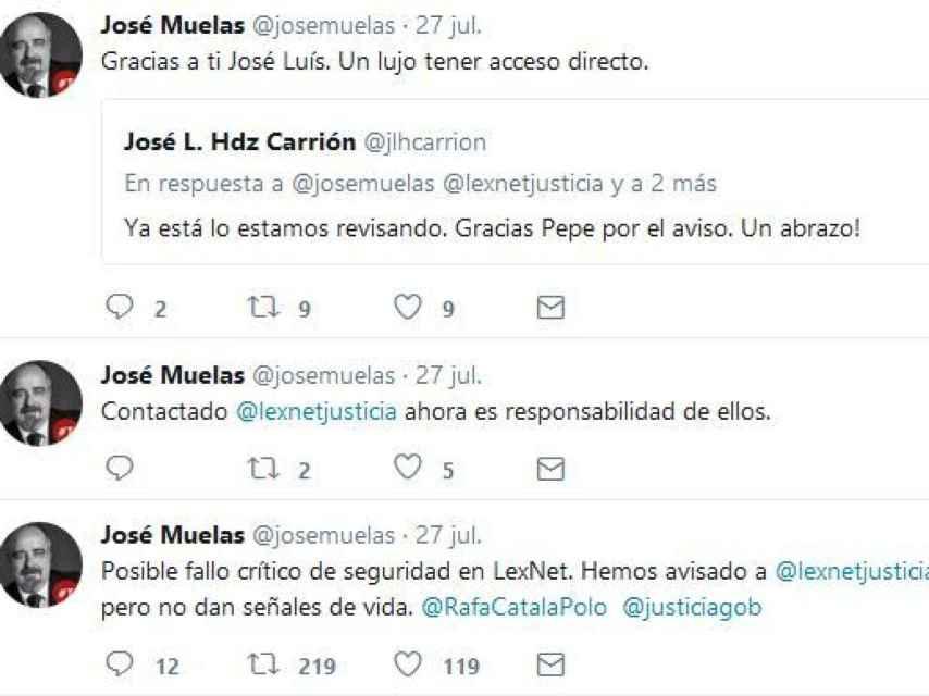 Alerta del abogado José Muelas sobre el fallo de seguridad de Lexnet