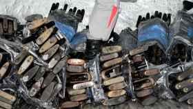 Armas y munición aprehendidas por la ONU a las FARC en Colombia