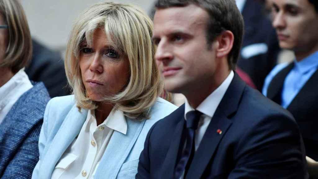 Los Macron durante un acto en el Elíseo