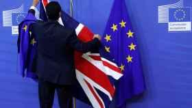 Preparativos en la sede de la Comisión Europea para la primera ronda de conversaciones sobre el 'brexit'.