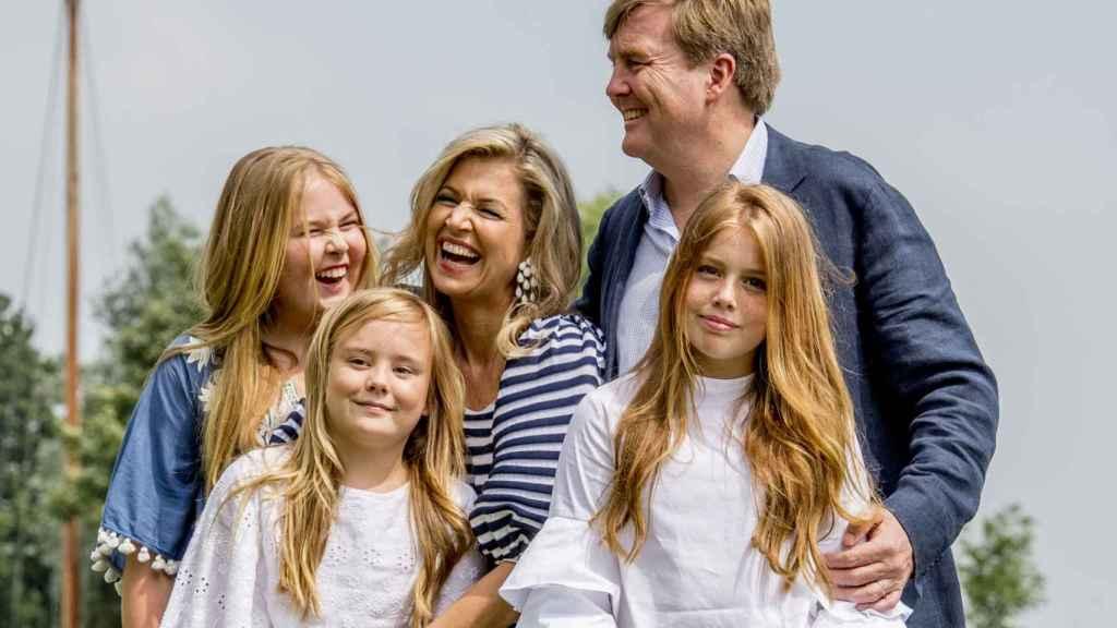 Posado de la Familia Real de los Países Bajos hace apenas un mes.