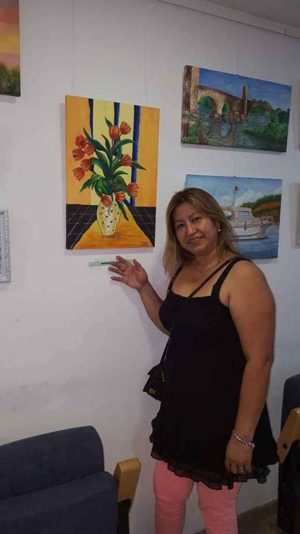 Marisela presumía de sus pinturas en las redes sociales