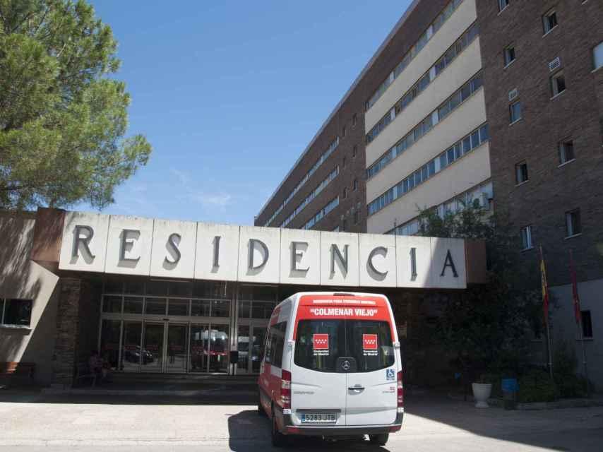 Imagen de la entrada de la residencia de ancianos de Colmenar Viejo.