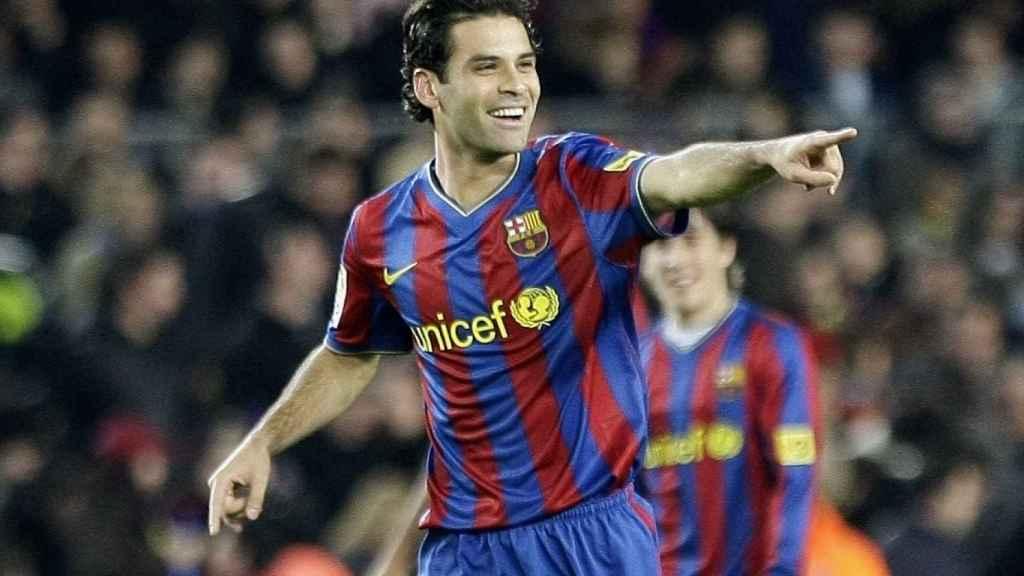Rafa Márquez en su etapa de jugador del FC Barcelona