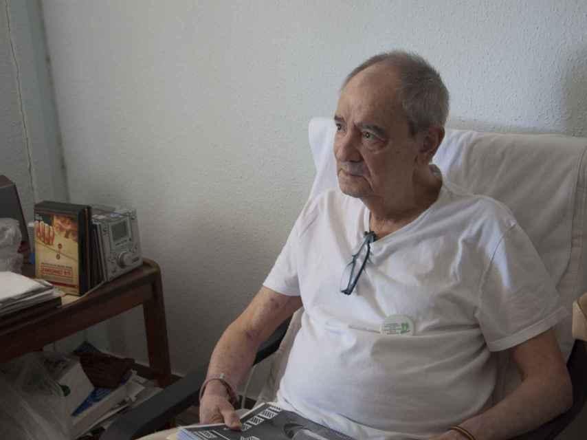 José Luis López es interno en la residencia pública de Colmenar Viejo.