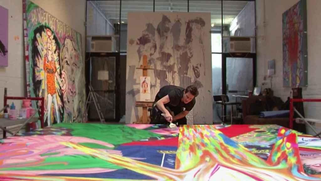 Jim Carrey, en su nueva faceta de pintor