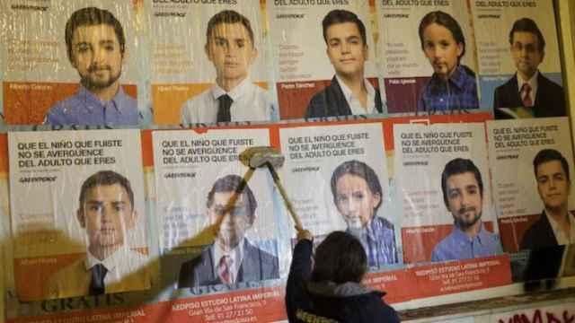 Imagen de una campaña de Greenpeace para las elecciones del 20 de diciembre de 2015.
