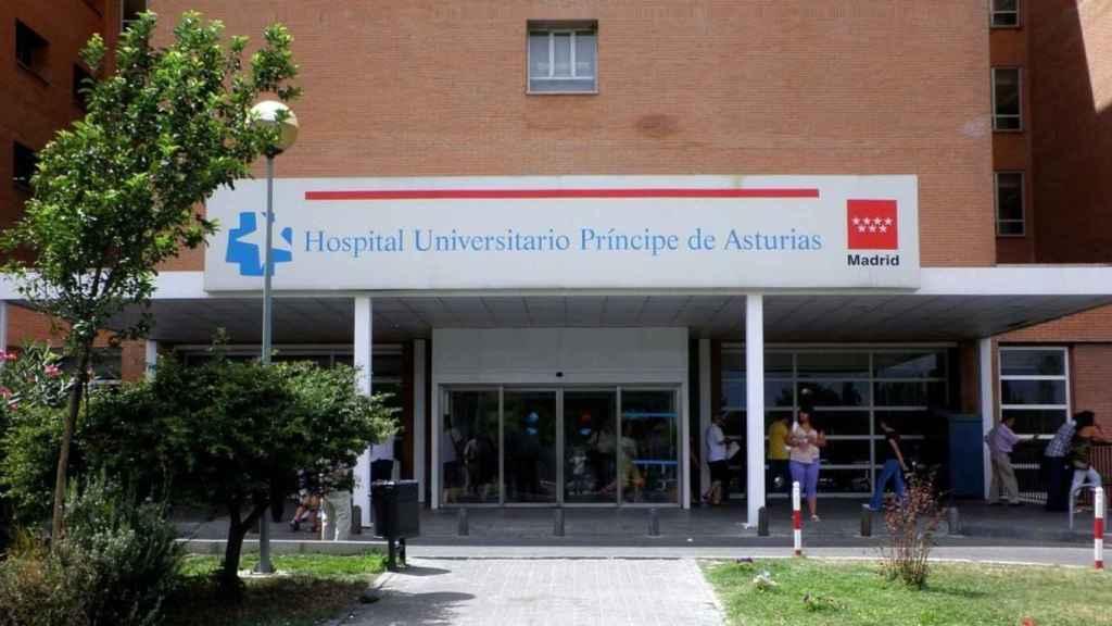 La entrada del hospital de Alcalá de Henares.