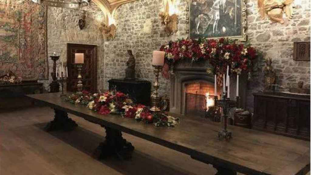 Imagen de una de las estancias del castillo.