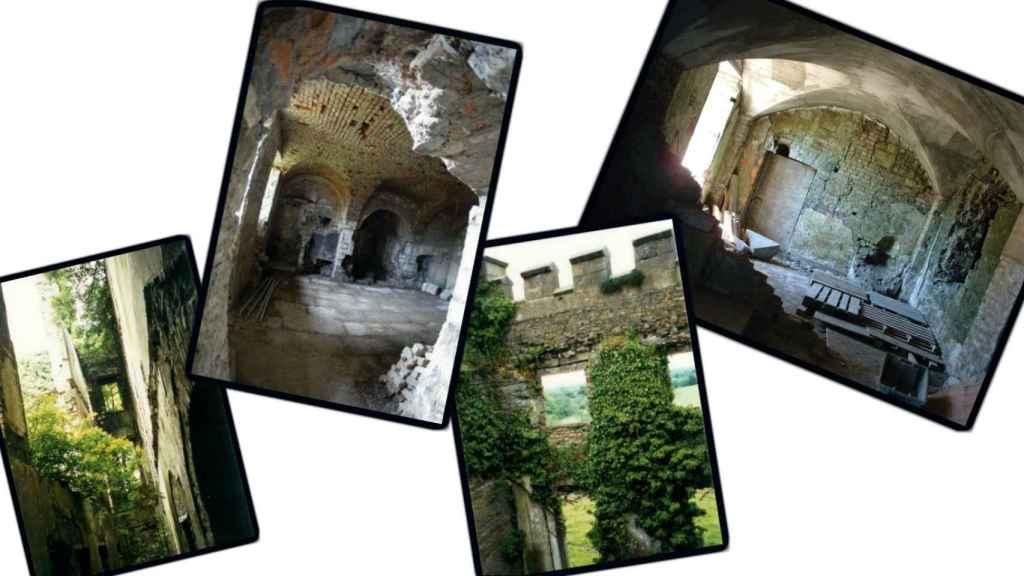Estado del castillo antes de la remodelación.