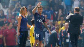 Neymar, el día de su presentación con el PSG. REUTERS