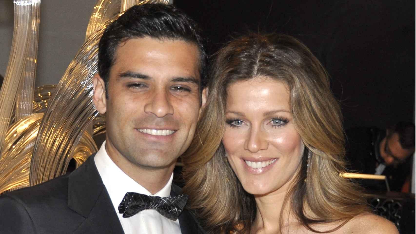Rafa Márquez y su mujer en una imagen de archivo.