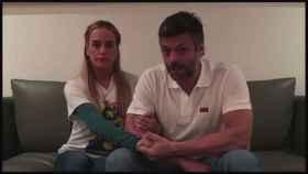 López y Tintori, en un vídeo grabado en su casa de Caracas a mediados de julio