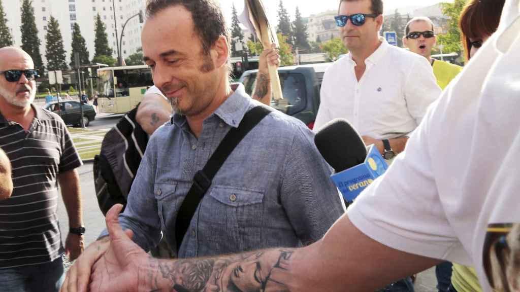 Francesco Arcuri el día en que compareció en sede judicial, cita a la que no asistió Juana.
