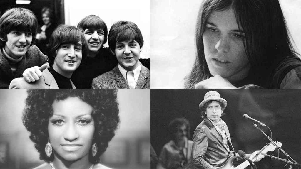 Los Beatles, Cecilia, Celia Cruz y Bob Dylan.