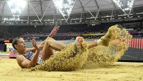 Ivana Spanovic quedó 4ª en la final de longitud con 6.96 metros.