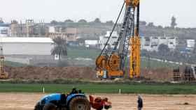 Obras de construcción en la frontera con la franja de Gaza
