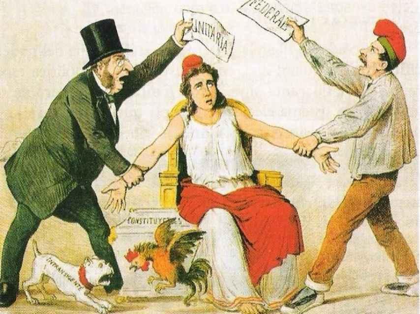 Caricatura del siglo XIX.