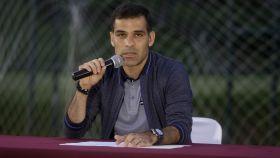 Rafa Márquez en rueda de prensa el pasado miércoles.