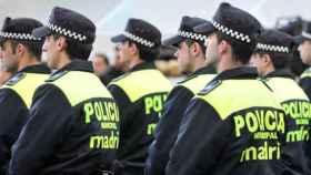 Un grupo de agentes de la Policía Local de Madrid.