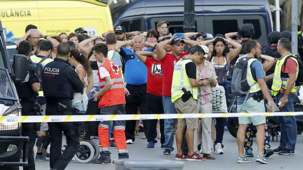 Imagen de La Rambla de Barcelona el día del atentado.