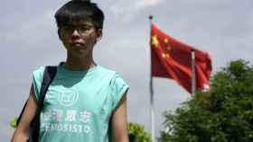 Joshua Wong, la víspera de acudir a la Corte de Justicia.