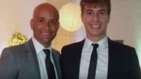 Patrick Nogueira con Walfran, hermano del hombre al que el joven asesinó, antes del asesinato.