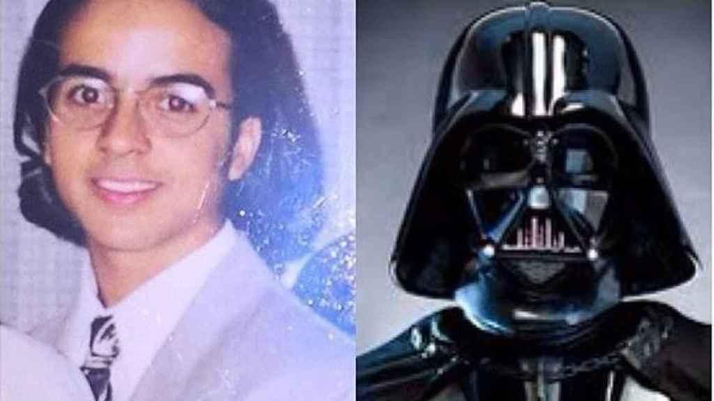 Aunque el parecido es un poco difícil de ver, Darth Vader también le ha dado juego.