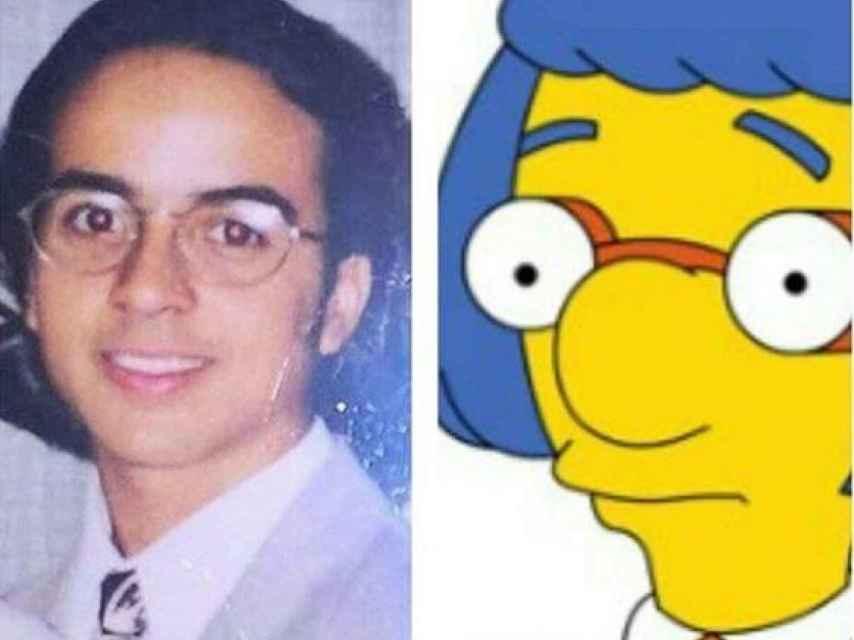 Los Simpsons también están presentes en el símil.