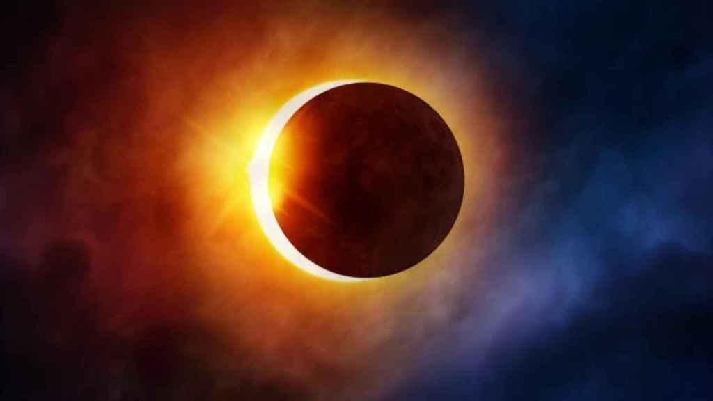 Así se verá el eclipse solar este lunes.
