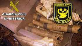 guardia civil dinamita explosivos