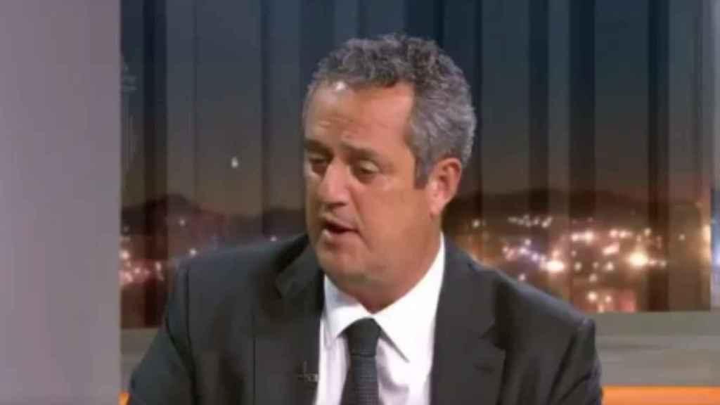 El conseller Forn durante su intervención en TV3.