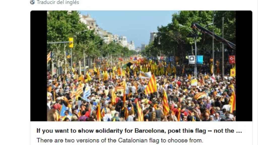 Captura del mensaje en Twitter publicado por ANC USA.