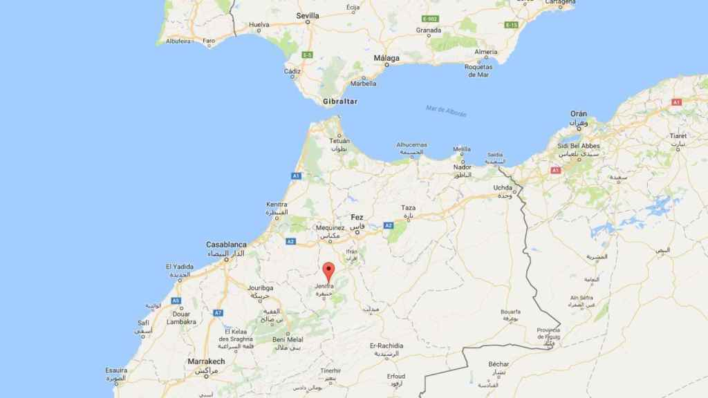 Localización del pueblo de Mrirt.