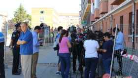 Foto alcalde en obras calle Astorga