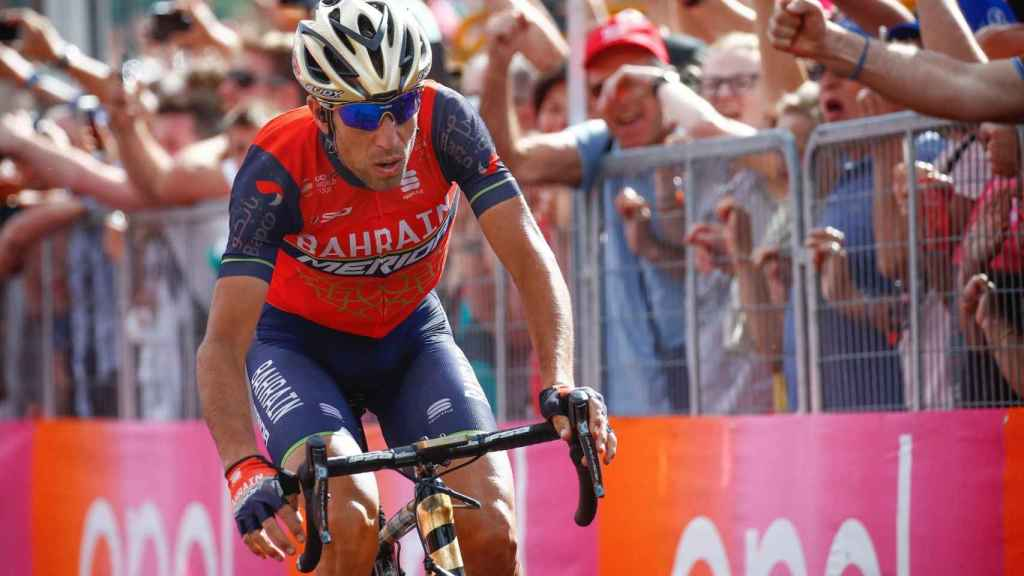 Vincenzo Nibali en la última Vuelta a España.