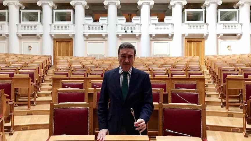 El hemiciclo del palacio de Tauride es hoy sede de la asamblea parlamentaria de la Comunidad de Estados Independientes.