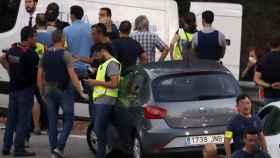 La operación policial en el lugar donde han abatido a Younes.
