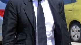 Jorge Cadaval, la semana pasada durante el entierro de su hermano.
