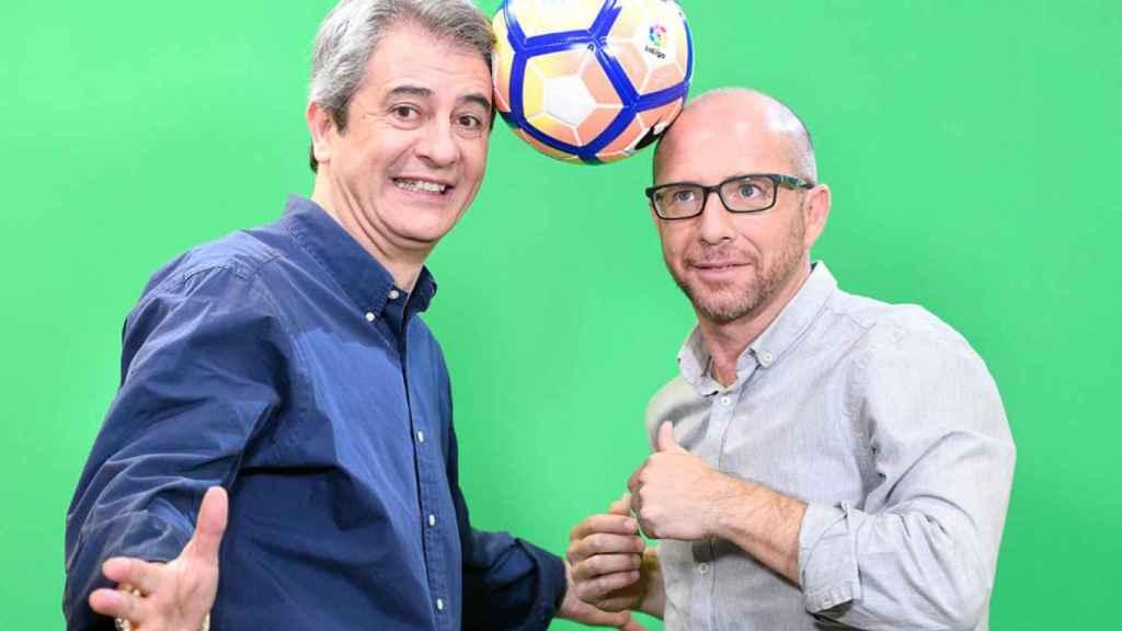 Manolo Lama y Jesús Gallego, presentadores de El Golazo de Gol, programa estrella de Gol.