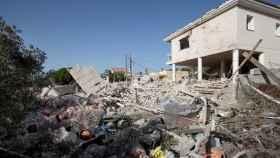 La casa de Alcanar quedó destrozada tras las explosiones.