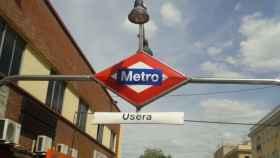 Salida del metro de Usera.