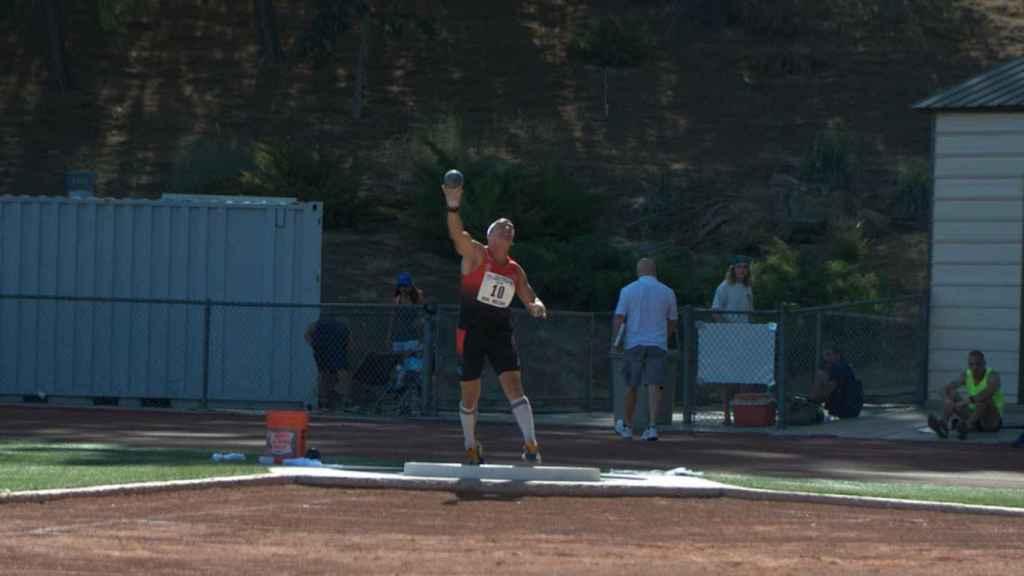Esteban Ayas durante la prueba de lanzamiento de bola del TCA