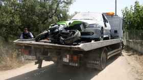 Momento en el que fue retirado el Peugeot de los Abouyaaqoub.
