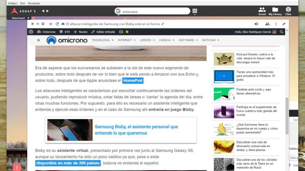 addaps navegador web ventanas destacada