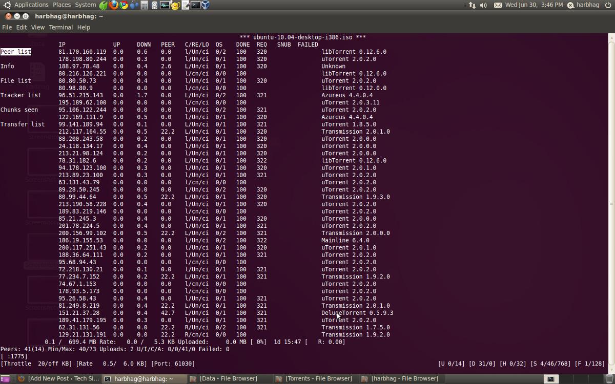 rtorrent control remoto consola cliente torrent